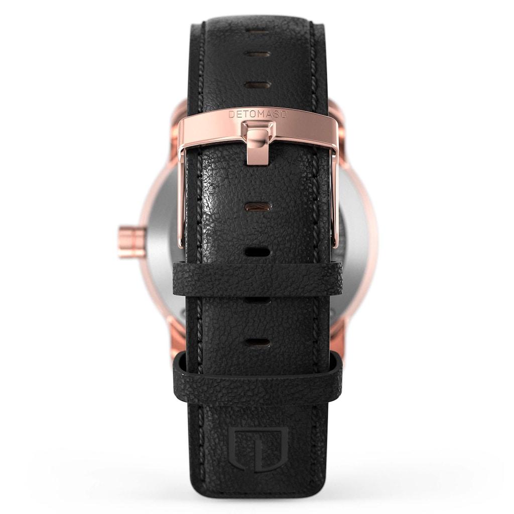 DETOMASO Automatikuhr »VIAGGIO AUTOMATIC ROSEGOLD BLACK«