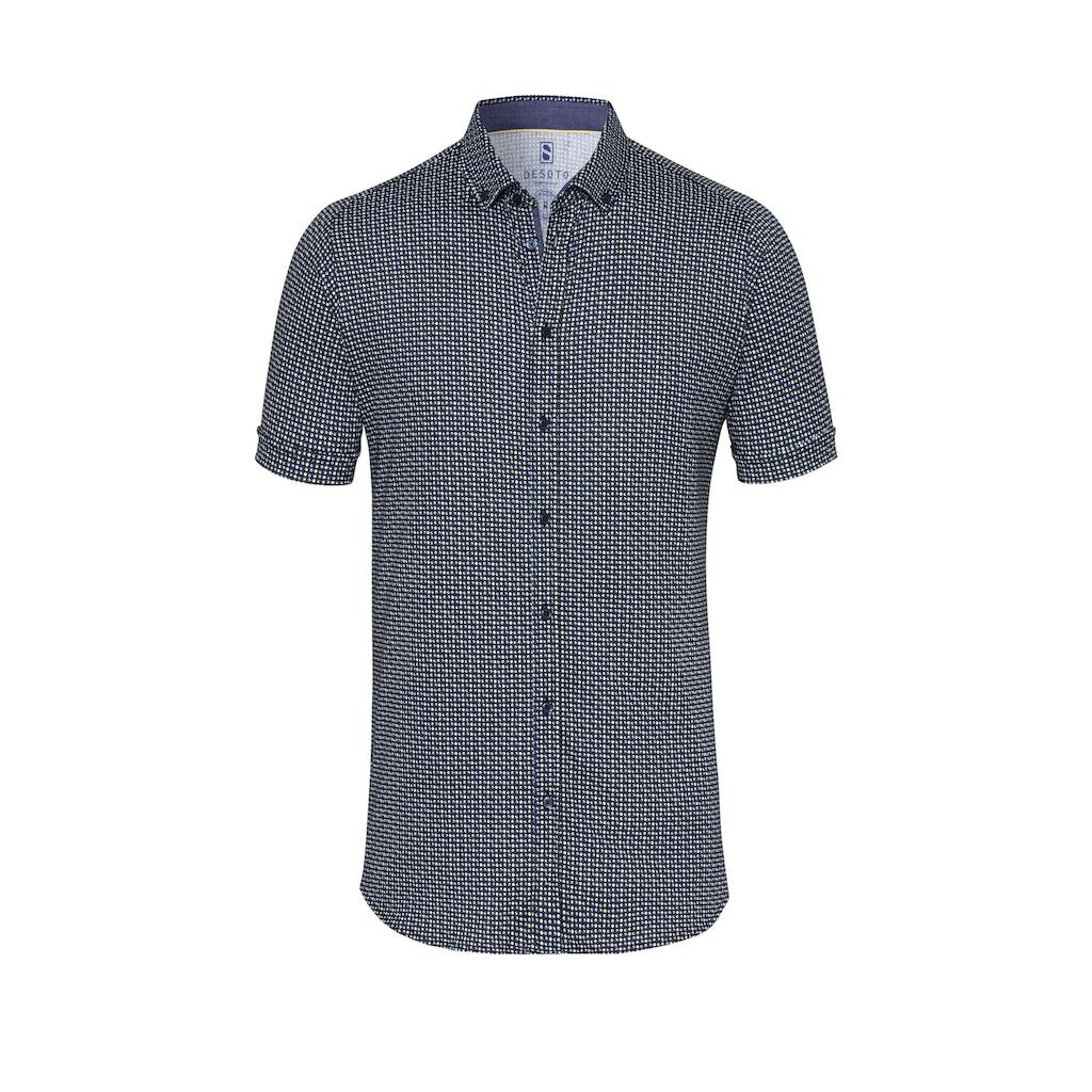 Desoto Jerseyhemd Kurzarm Bügelfrei Button Down