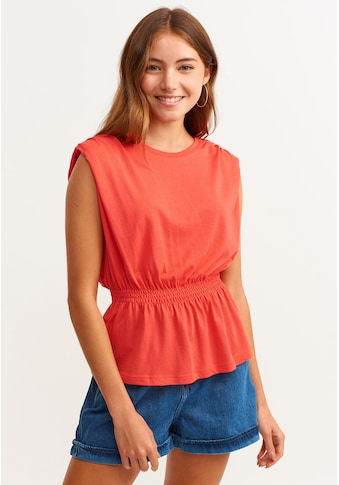 OXXO Rundhalsshirt, mit geraffter Taille kaufen