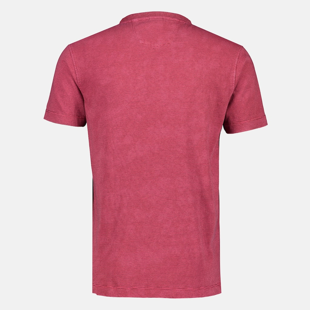 LERROS Henleyshirt, mit Fineliner-Streifen, in Großem Größen