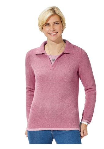 Classic Basics Pullover im 2 - in - 1 - Stil kaufen