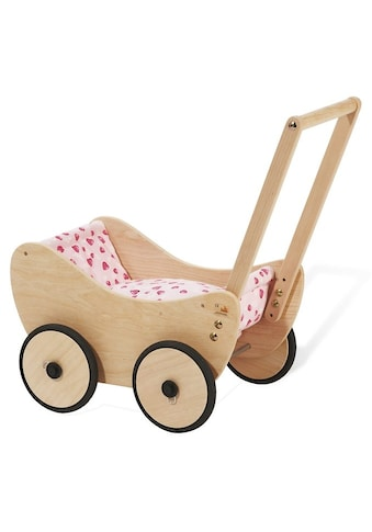 Pinolino® Puppenwagen »Trixi - Herzchen«, aus Holz mit Bettzeug; Made in Europe kaufen