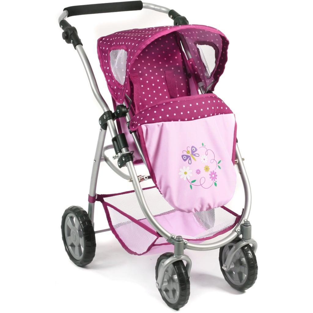 CHIC2000 Kombi-Puppenwagen »Emotion All In 3in1, Brombeere«, inkl. Babywanne, Babyschale und Sportwagenaufsatz