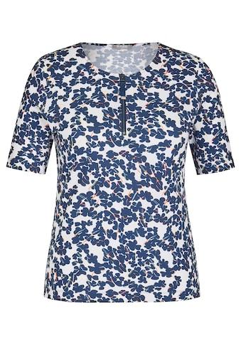 Rabe Blusenshirt, mit geblümtem Allover-Muster und Reißverschluss kaufen