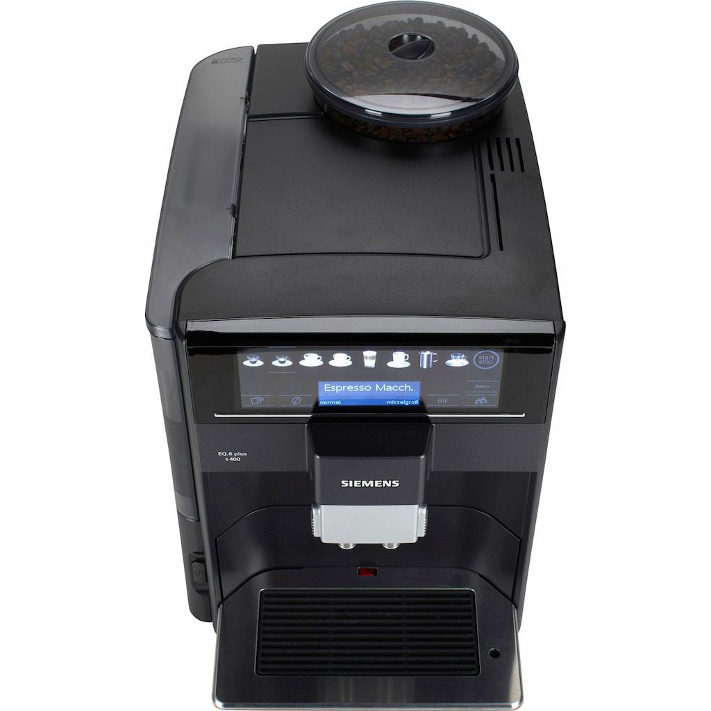 SIEMENS Kaffeevollautomat »EQ.6 plus s400 TE654509DE«, automatische Reinigung, 2 individuelle Profile, inkl. Milchbehälter im Wert von UVP 49,90