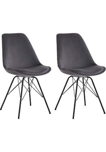 Homexperts Esszimmerstuhl »Ursel 02«, Sitzschale mit Bezug in Samt kaufen