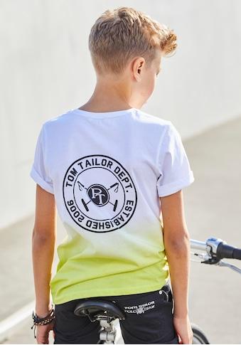 TOM TAILOR Polo Team T-Shirt »Farbverlauf« kaufen