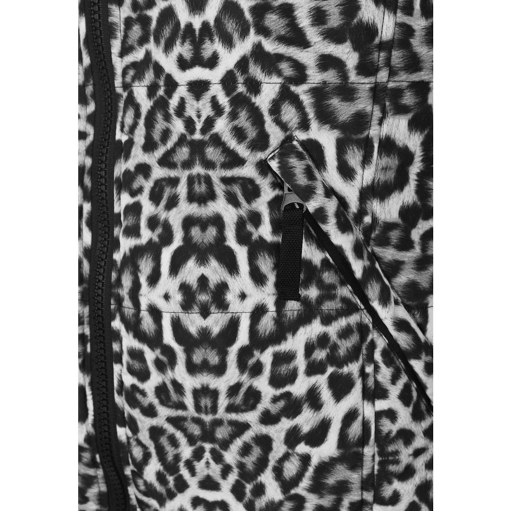 Doris Streich Steppweste »mit Allover-Print«, mit Stehkragen
