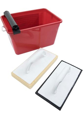 Connex Fliesenrollenwasch-Set, inkl. Wascheimer und 2 Waschbrettern kaufen