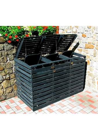 PROMADINO Mülltonnenbox , für 3x240 l aus Holz, B/T/H: 202/92/122 cm kaufen