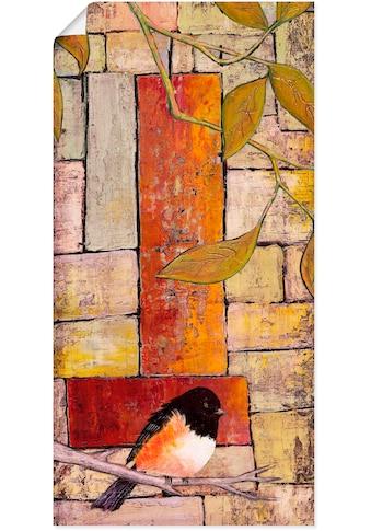Artland Wandbild »Vogel auf einem Ast I«, Vögel, (1 St.), in vielen Größen &... kaufen