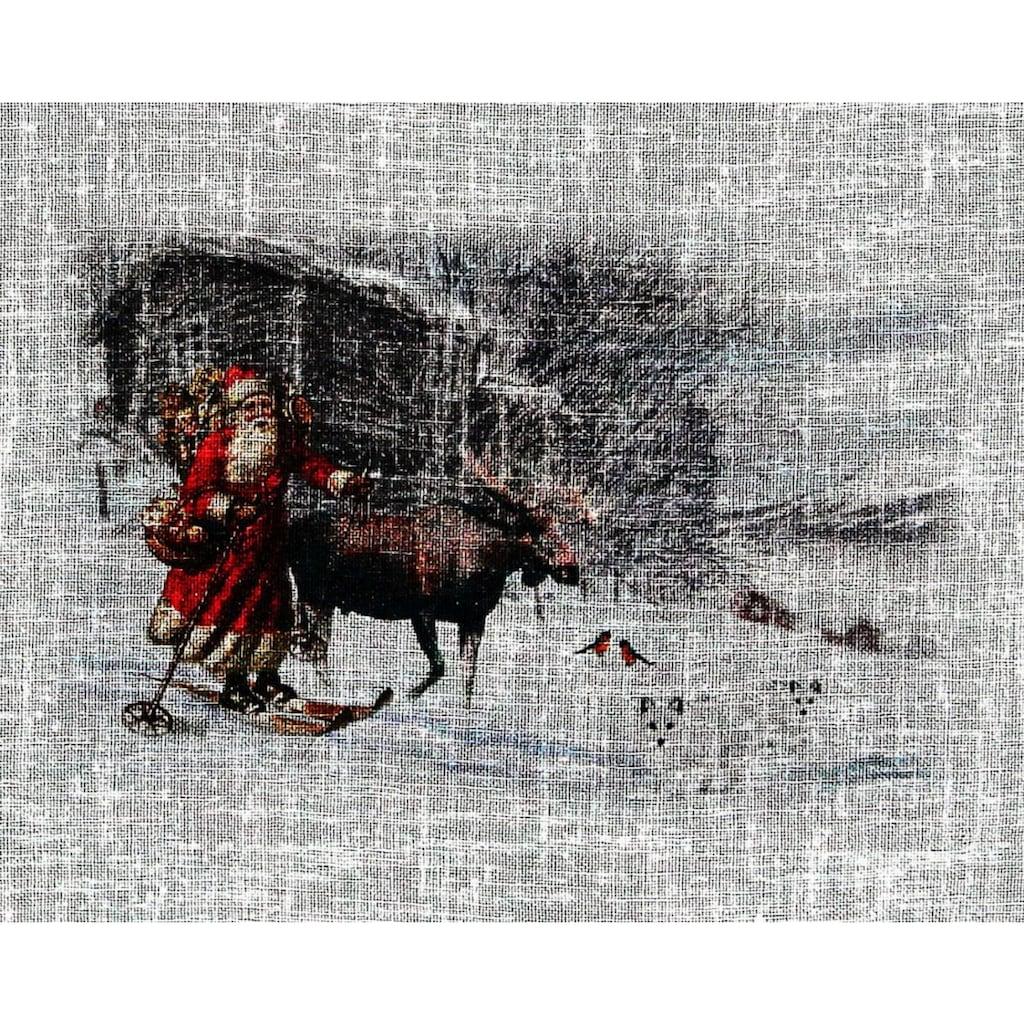 HOSSNER - ART OF HOME DECO Gardine »Weihnachtsmann«, Landhaus-Look