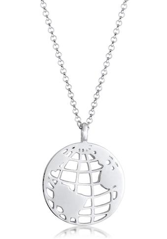 Elli Kette mit Anhänger »Weltkugel Globus Anhänger Plättchen, 0112180319« kaufen
