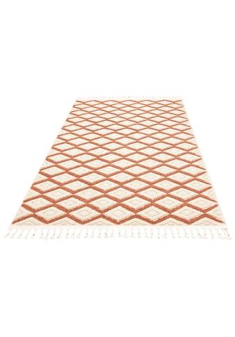 Home affaire Teppich »Hagen«, rechteckig, 18 mm Höhe, mit Fransen, Wohnzimmer kaufen