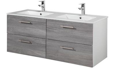 WELLTIME Waschtisch »Trento«, Breite 120 cm, Doppelwaschtisch & Doppelwaschbecken, 2 - tlg. kaufen