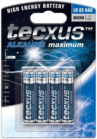 tecxus Batterie »LR03/AAA (Micro)«, (4 St.), Tecxus Alkaline maximum kaufen