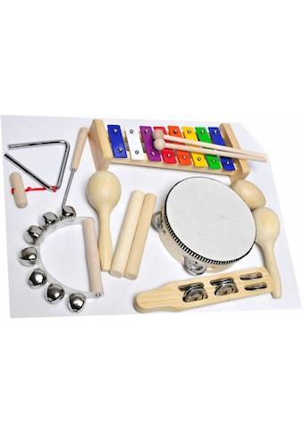 "Clifton Spielzeug - Musikinstrument ""9 teiliges Kinder Percussion Set mit CD"", (Set, 9 - tlg.) kaufen"