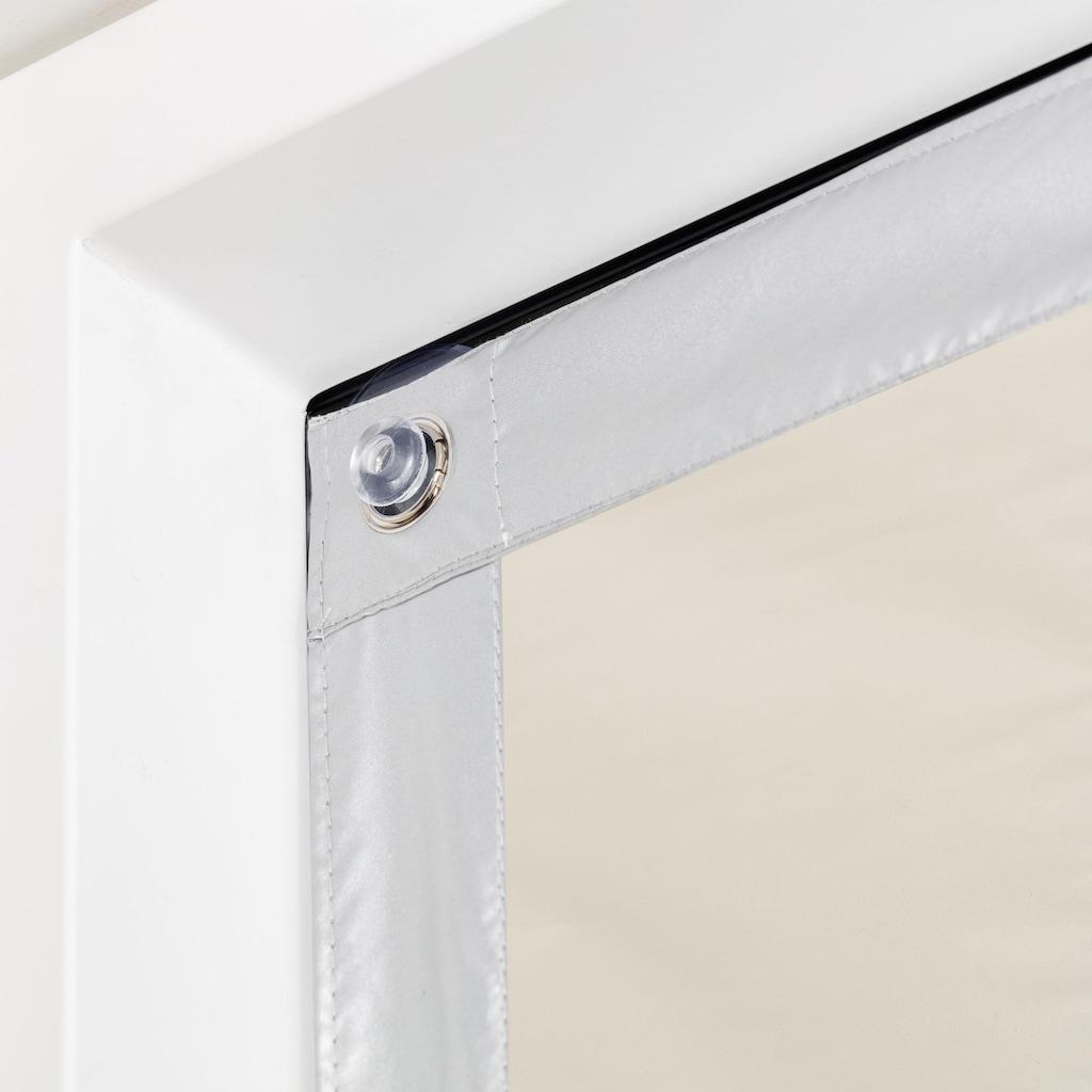 LICHTBLICK Dachfensterrollo »Haftfix Hitzeschutz Abdunkelung«, verdunkelnd, Perlreflex-beschichtet-energiesparend, ohne Bohren, verspannt, mit Thermobeschichtung, mit Saugnapf