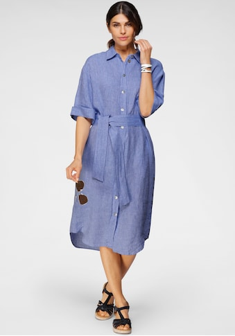 seidensticker Blusenkleid, (2 tlg., mit Bindegürtel), in langer Form, Maxidress, aus... kaufen