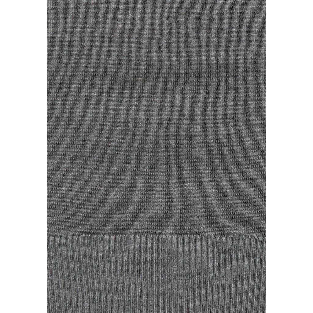 Boysen's Strickkleid, (Set, 2 tlg.), mit trendy Handytasche