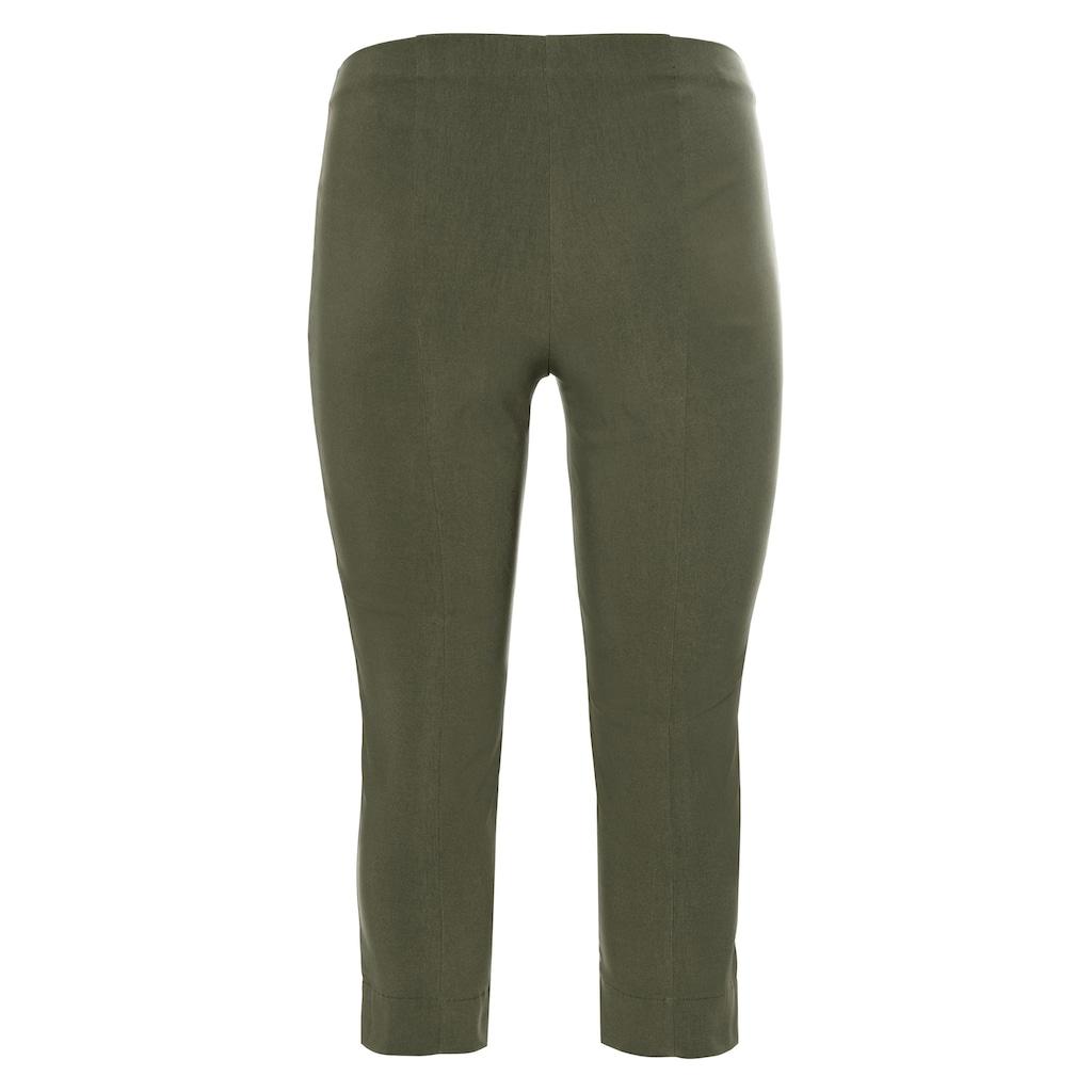 Sheego 3/4-Hose, knitterarm und pflegeleicht