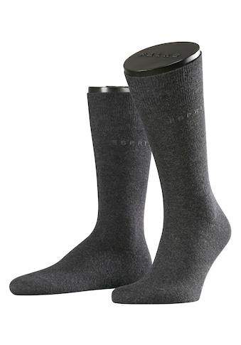 Esprit Socken »Basic Uni 2-Pack«, (2 Paar), mit hohem Baumwollanteil kaufen