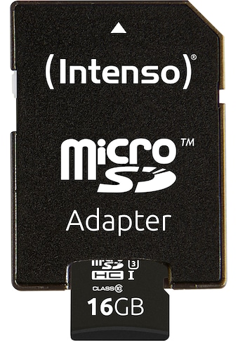 Intenso Speicherkarte »microSDHC UHS-I Professional + SD-Adapter«, (... kaufen