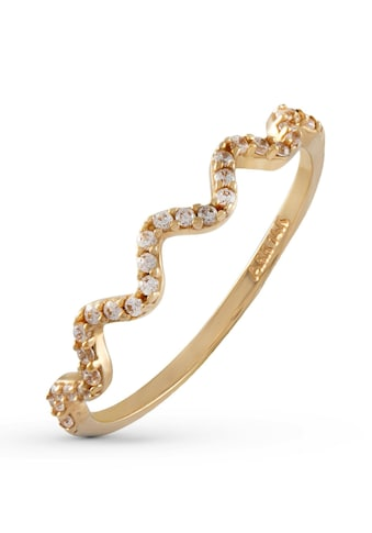 Firetti Goldring »wellenförmige Optik«, mit Zirkonia kaufen