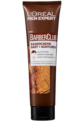 L'ORÉAL PARIS MEN EXPERT Rasiercreme »Barber Club Rasurgel«, dank durchsichtiger... kaufen