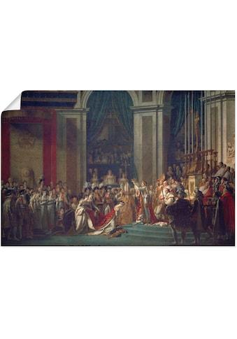 Artland Wandbild »Krönung Napoleons I und Josephines« kaufen
