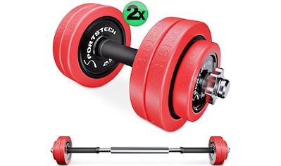 Sportstech Hantel - Set 30 kg (Set, 31 - tlg., mit Kurz -  und Langhantelstange) kaufen
