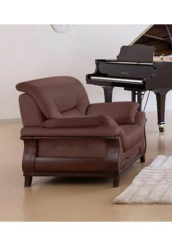 DELAVITA Sessel »Matea«, mit schön geschwungenem Massivholzgestell kaufen