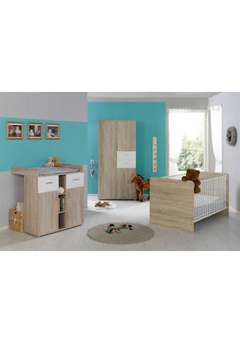 BMG Babyzimmer-Komplettset »Maxim«, (Set, 3 St.), Bett + Wickelkommode + 3-trg. Schrank kaufen