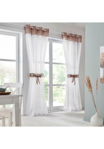 my home Gardine »Villars«, Vorhang, Fertiggardine, inkl. 2 Raffhalter, transparent kaufen