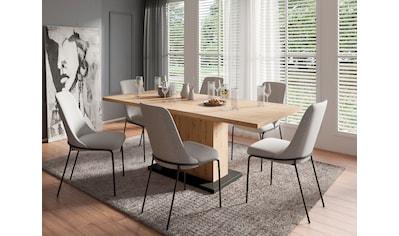 Homexperts Essgruppe »Aiko«, (Set, 5 tlg., Esstisch mit 4 Stühlen), Tisch mit... kaufen