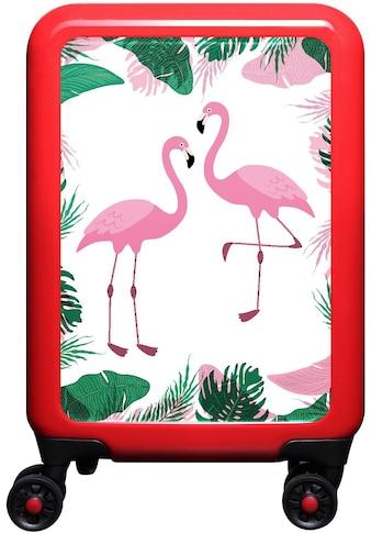meinTrolley Hartschalen-Trolley »Flamingo im Dschungel«, 4 Rollen, Made in Germany kaufen