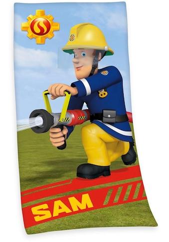 Feuerwehrmann Sam Badetuch »Feuerwehrmann Sam«, (1 St.), mit dem tollem Motiv kaufen