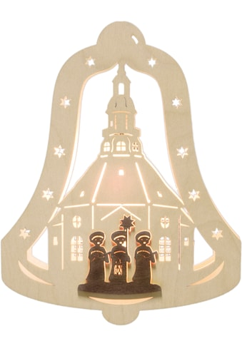 Weigla Beleuchtetes Fensterbild »Kurrendesänger«, Motiv eingerahmt in Glocke kaufen
