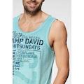 CAMP DAVID T-Shirt, mit großem Logofrontprint