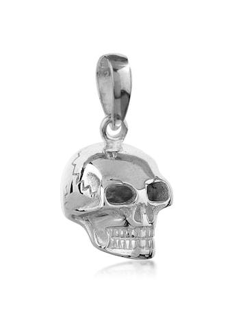 Kuzzoi Kettenanhänger »Herren Totenkopf Kettenanhänger Gothic 925 Silber« kaufen