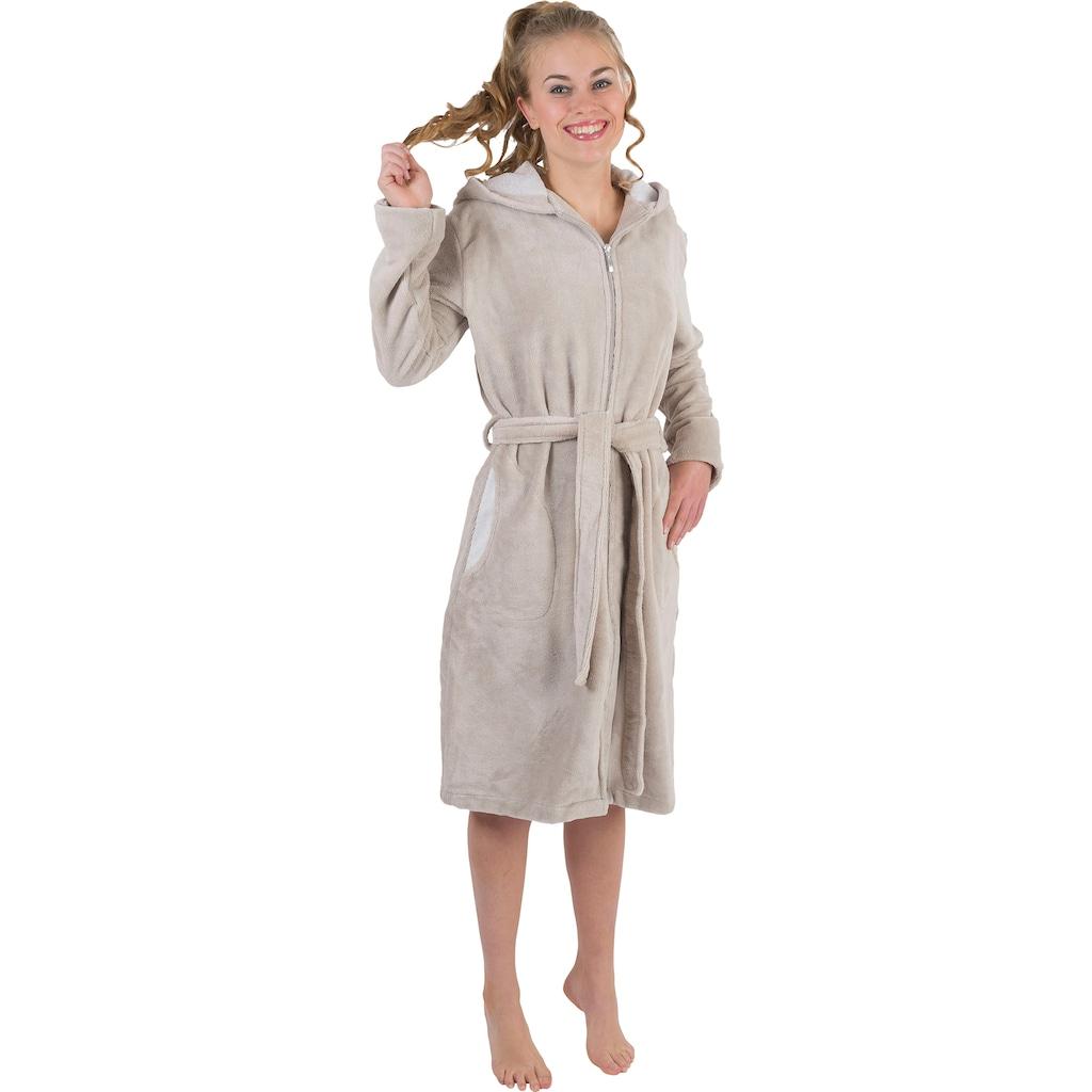 Wewo fashion Damenbademantel »6122«, mit Schubtaschen