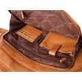 GreenLand Nature Messenger Bag, aus Leder mit Laptopfach