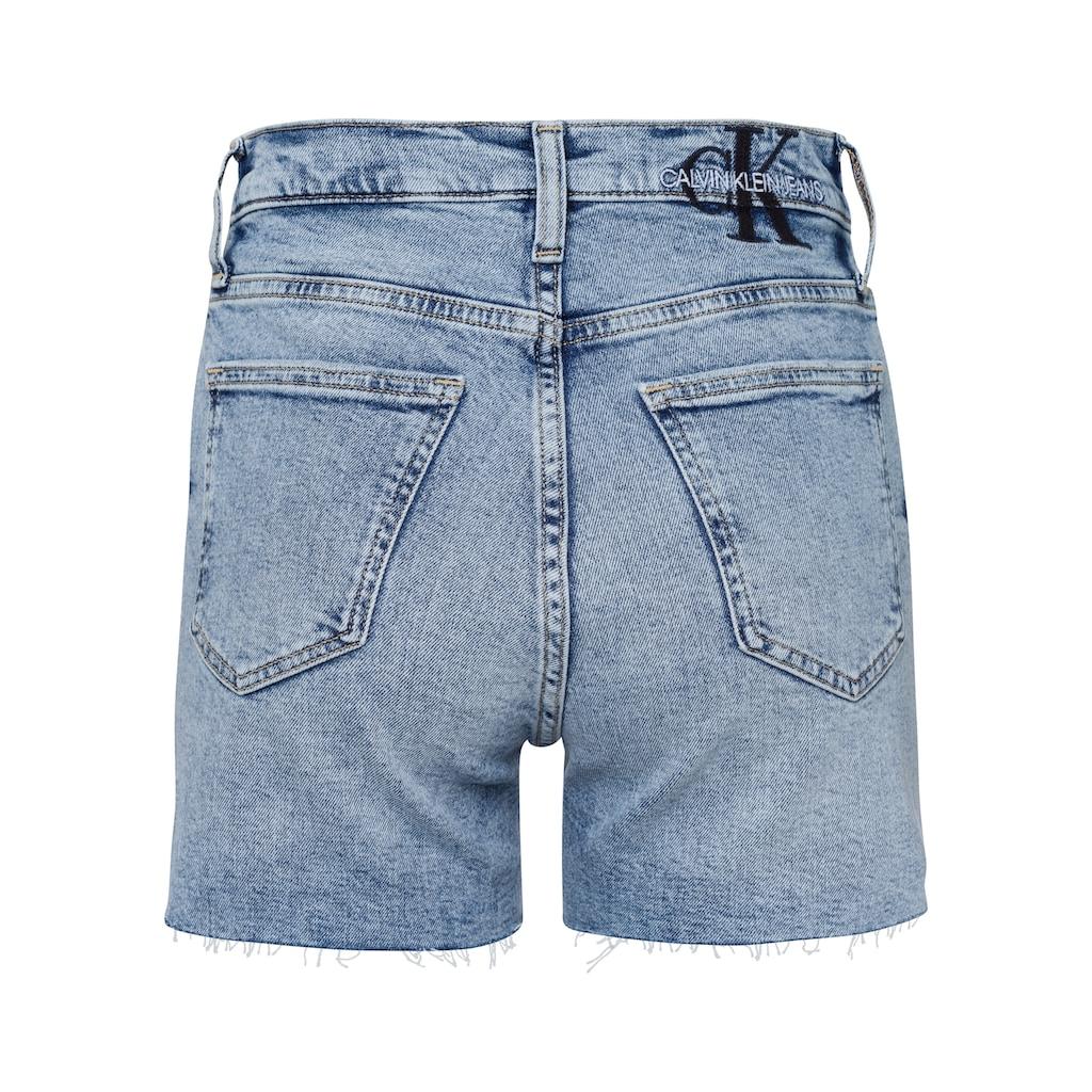 Calvin Klein Jeans Shorts, Offene, gefranste Beinabschlüsse