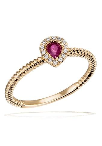 goldmaid Fingerring, 375/- Gelbgold 14 Zirkonia 1 Rubin kaufen