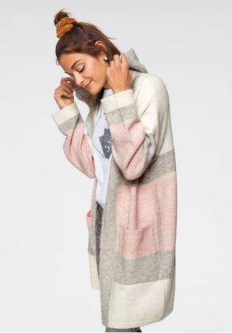 Mavi Cardigan, im Streifen-Design mit Kapuze kaufen