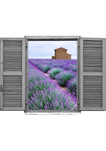 queence Wandtattoo »Lavendelfeld« kaufen