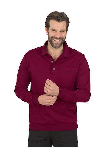 Trigema Langarm Polo aus Sweat-Qualität kaufen