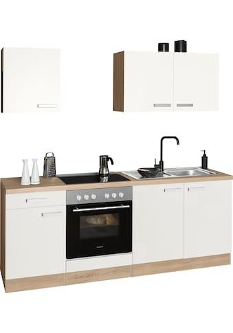 OPTIFIT Küchenzeile »Leer«, 210 cm breit, inkl. Elektrogeräte der Marke HANSEATIC, wahlweise mit oder ohne vollintegrierbaren Geschirrspüler kaufen