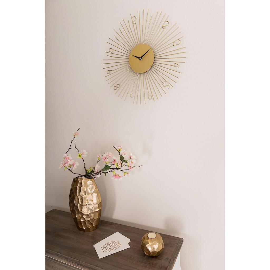 Leonique Wanduhr, goldfarben, rund, Ø 45,5 cm