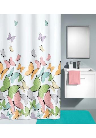 KLEINE WOLKE Duschvorhang »Butterflies«, multicolor, 180 x 180 cm kaufen